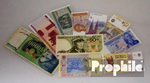 Europa orientale 10 diversi Banconote Europa orientale (Banconote) Prophila