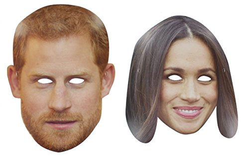 Prince Harry & Meghan Markle Royal Wedding Party Celebrity Card Face Mask]()