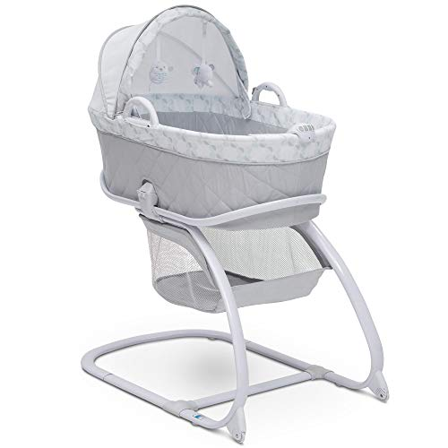 Baby Cribs Moses Baskets - Delta Children Deluxe Moses Bassinet, Windmill