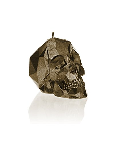 Candellana Candles Candellana- Small Skull Candle, Brass (Dog Skeleton Candle)