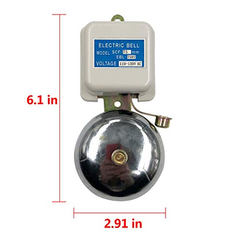 "Electric bell 3"" All Purpose Door Bell Schools Fire Alarm"