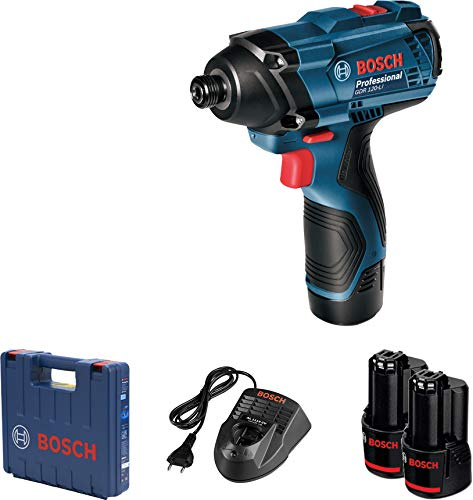 Bosch GDR 120 LI Cordless Impact Driver with Double Battery (Blue, 3-Piece) Price & Reviews