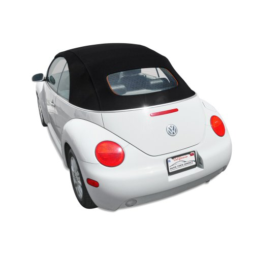 Volkswagen Beetle Haartz Twillfast RPC Convertible Top with Heated Glass Window for VW with Electric Power Opening Top Black