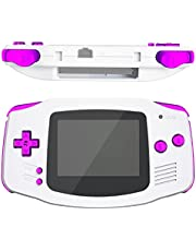 eXtremeRate Chrome Purple Replacement Full Set Buttons for Gameboy Advance GBA - Handheld Game Console NOT Included