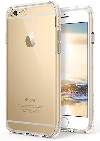 [해외]아이폰 6s 플러스용 링크 퓨전 / Ringke Fusion Compatible with iPhone 6S Plus Case, Crystal Clear PC Back TPU Bumper Drop Protection, Shock Absorption Technology (Attached Dust Cap) for iPhone 6 Plus - Clear