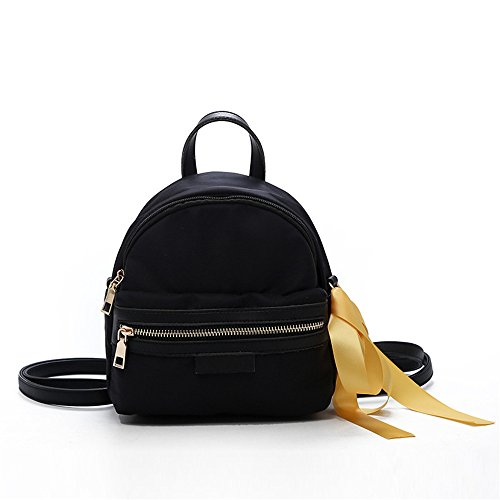 Small Dual Meaeo Bag Elegant Backpack Square Bag Black Minimalist Black Canvas use Bag Of6Rq0w