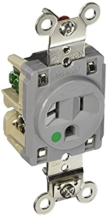 Hubbell Hbl8310gy Single Receptacle Hospital Grade 20 Amp 125v 5 20r Gray Amazon Com Industrial Scientific