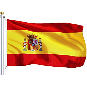 Amazon.com : G128 - Spain (Spanish) Flag | 3x5 feet ...
