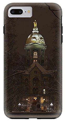 """iPhone 8 Plus Case """"Notre Dame Golden Dome Snow"""" by Pixels"""