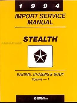 1994 dodge stealth repair shop manual original 2 vol set r t and rh amazon com 2016 Dodge Stealth 1991 Dodge Stealth