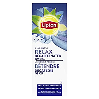 Lipton Decaffeinated Black Enveloped Hot Tea Bags Made with Tea Leaves Sourced from Rainforest Alliance Certified Farms, 28 count, Pack of 6