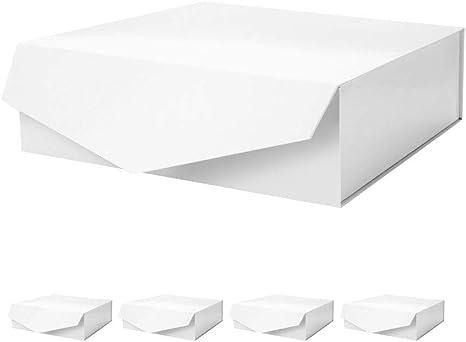Caja de regalo con cierre magnético, caja de regalo plegable, caja de almacenamiento decorativa, cajas decorativas con cierre magnético (blanco, paquete de 1/5) por PACKHOME: Amazon.es: Juguetes y juegos