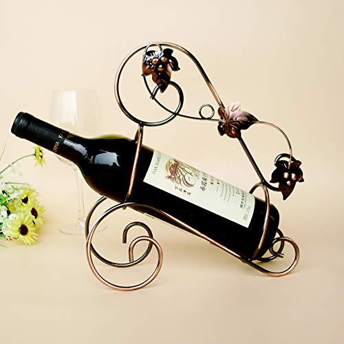 (XiYunHan Maple Leaf Wine Rack Wire Crafts European Creative Wrought Iron Wine Rack Wine Cabinet Decoration Retro Wine Bar Bar Bracket Fashion Home Decoration Storage Desktop Kitchen Storage Rack)