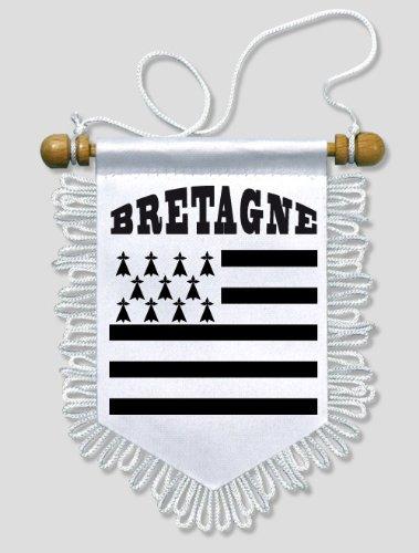 Fanion Voiture Bretagne - 13 x 15 cm - Blason Ecusson Football KOO Interactive