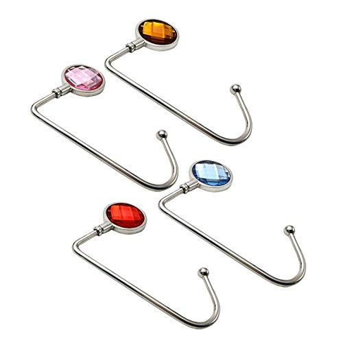 qiumeixia1 16pcs Handbag Hanger Purse Hook Handbag Holder Shell Bag Table Hook (Assorted Colors)