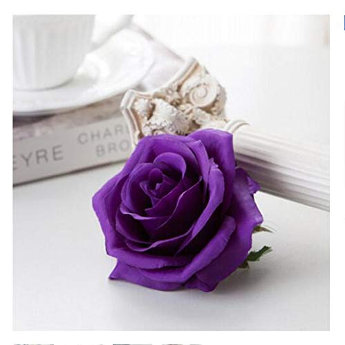 (CoronationSun - Artificial Rose - 5pcs Artificial Silk Rose DIY Decorative Fake Flower for Home Wedding Birthday Party Decoration)