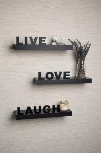 """Review Danya B YU075 """"Live, Love, Laugh Wall Shelves (Set of By Danya B by Danya B"""