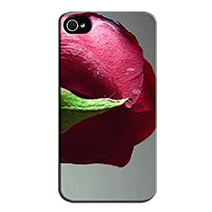 Kiss_from_a_rose Gray Case Cover For Iphone 4 3D And CG