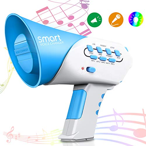 Vimpro Voice Changer, Kids Multi Voice Changer with 7 Different Voice Modifiers, for Boys and Girls, Parties, Christmas, Events-Blue (Best Girl Voice Changer)