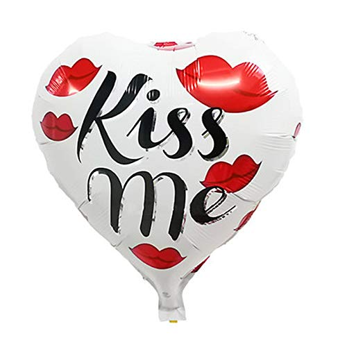 Air Supply - 24in Lip And Letter Printing Party Wedding Decoration Love Heart Shape Foil Helium Air Balloons - Filter Signed Hood Florida Regulator Ray Hearts Love Fish Men ()