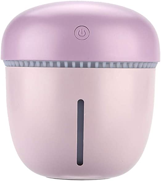 Humidificador 200Ml USB Mini Coche Oficina Mesa Purificador De Aire Agua Hidratante Relleno Y Eliminación Electricidad Estática Luz De Noche,Purple: Amazon.es: Hogar