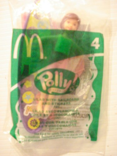 Mattel Stickers - McDonalds Happy Meal Toy - Polly - Lila with sailboard and stickers, #4, 2004