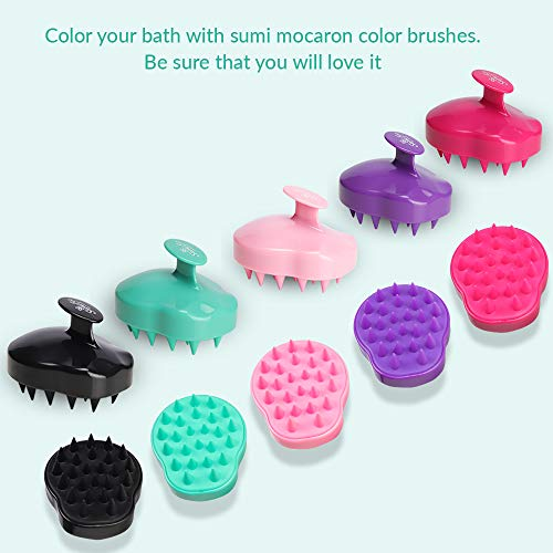 Sumi Eco Hair Scalp Massager, Shampoo Brush | Scalp Care Body Washing Massager | Silicone Comb Tourmaline contained | Multiple Colors