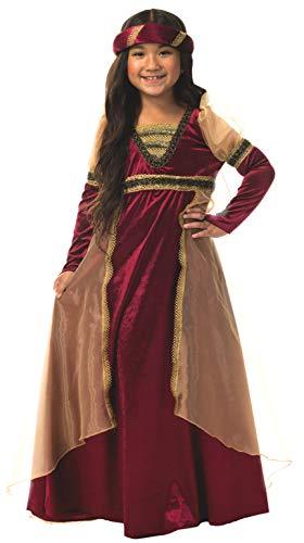 Charades Renaissance Girl Children's Costume, Wine, Large