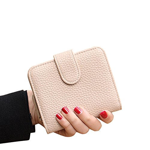 TININNA Damen Frauen Elegant Pu Leder Geldbörse Brieftasche Beutel Kleingeld Tasche Kleingeldbörse Kreditkartentasche rosa Khaki