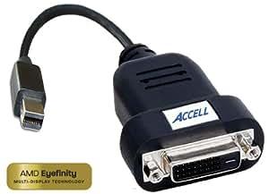 Accell B087B-006B UltraAV Mini DisplayPort to DVI-D Active Single-Link Adapter - AMD Eyefinity(TM) Certified