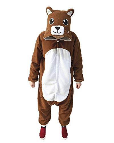 Lifeye Adult Bear Pajamas Animal Cosplay Costume Brown -