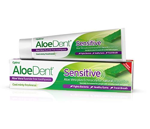 Aloe Dent Sensitive 100 ml Aloe Vera Plus Echinacea Fluoride-Free Toothpaste - Pack Of ()