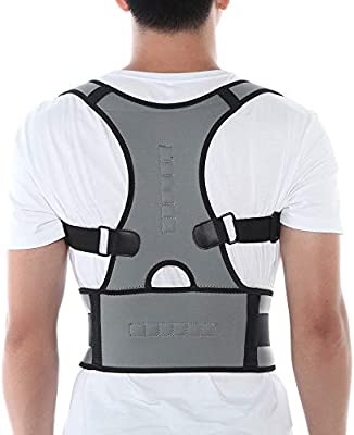 Posture Corrector Support Magnetic Back Shoulder Brace Belt For Men Women GZ