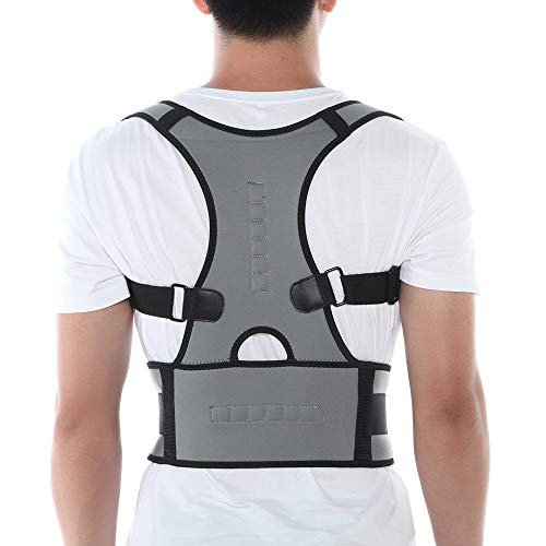 (KIWI RATA Magnetic Posture Corrector Back Braces Shoulder Waist Lumbar Support Belt Humpback Prevent Body Straighten Slouch Compression Pain Relief)