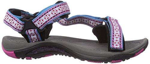 Northland Professional Active LS Sandal - Sandalias de Punta Descubierta Mujer multicolor - Mehrfarbig (white/pink 4)