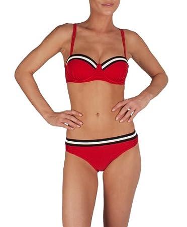 Speedo Damen Bikini I2 Robina Cup Retro Solid 34 Rot  Amazon.de ... 55bd81192a