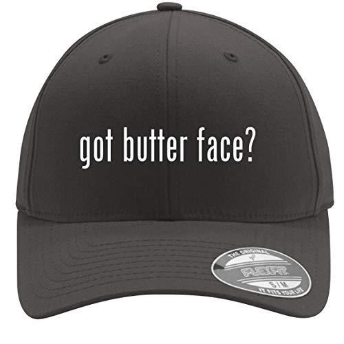 got Butter face? - Adult Men's Flexfit Baseball Hat Cap, Dark Grey, Large/X-Large