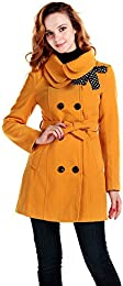 Amazon.com: Yellow - Wool & Blends / Wool & Pea Coats: Clothing