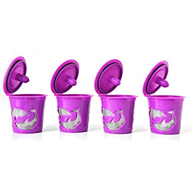 FANOR Refillable K-cup for Keurig 2.0 and 1.0 Brewers (4, Purple)