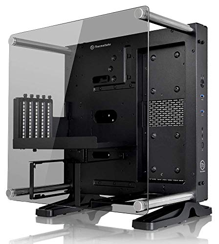 Thermaltake Core P1 Tempered Glass Edition Mini ITX Open Frame Panoramic Viewing Tt LCS Certified Gaming Computer Case ()