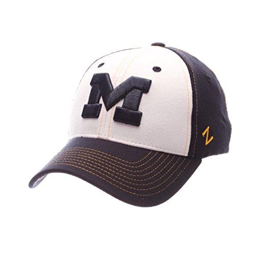 NCAA Michigan Wolverines Adult Men Bleacher Z-Fit Hat,X-Large,White/Tc