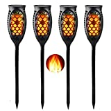 Outdoor Solar Light Waterproof 99LED Flickering Flame Torch Light with3 Installation Ways & 3 Lighting Modes Auto On/Off Dusk to Dawn forWall Patio Pathway Garden Decorations [2018 Upgraded] (4)