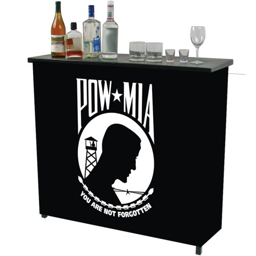 POW Two Shelf Portable Bar with Case
