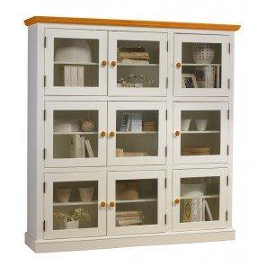 Schöne Möbel nicht zu erinnern, Bücherregal weiß honig 9 und die Türen haben jeweils einen Glasauschnitt