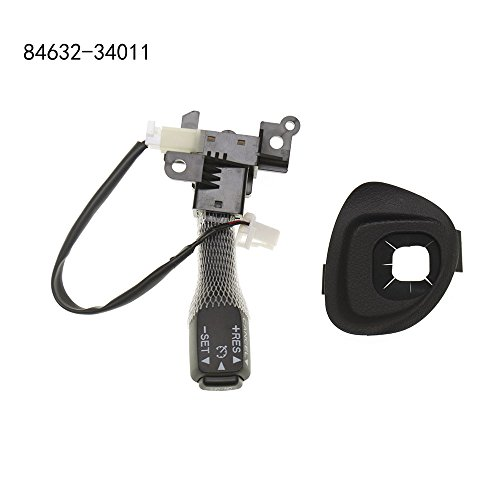 Guteauto Cruise Control Switch Assembly 84632-34011 & 45186-0P040-C0 for Toyota & Lexus (Include Cruise Control Switch Cover)