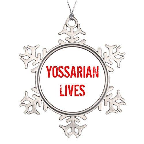Metal Ornaments Custom Christmas Snowflake Ornament Yossarian Lives Cool Christmas Tree -