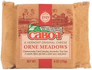 product image for CABOT Orne Meadows Cheddar Cheese Bar, 6 Ounce (Pack of 12)