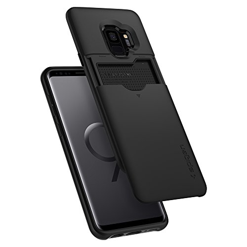 Spigen Slim Armor CS [Updated Version] Galaxy S9 Case with Slim Dual Layer Wallet Design and Card Slot Holder for Samsung Galaxy S9 (2018) - Black