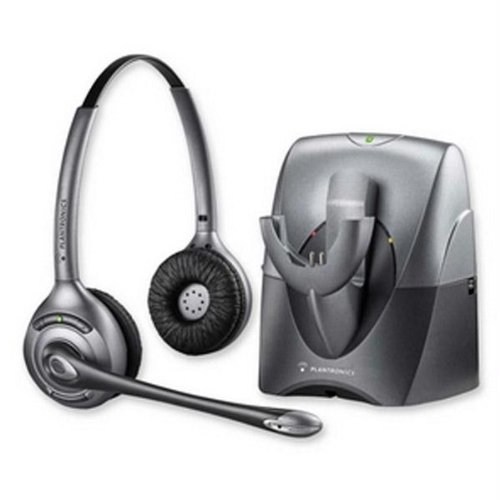 1ba74be2f76 Image Unavailable. Image not available for. Color: Plantronics SupraPlus  CS361N Noise-Canceling Wireless Headset DECT ...