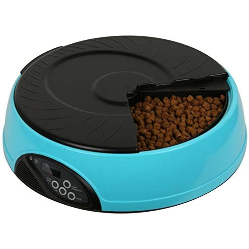 Pet Simply Feed 6-Meal Automatic Feeder with Voice Recorder and Timer Programmable for Dogs (Medium and Small) and Cats 60%OFF